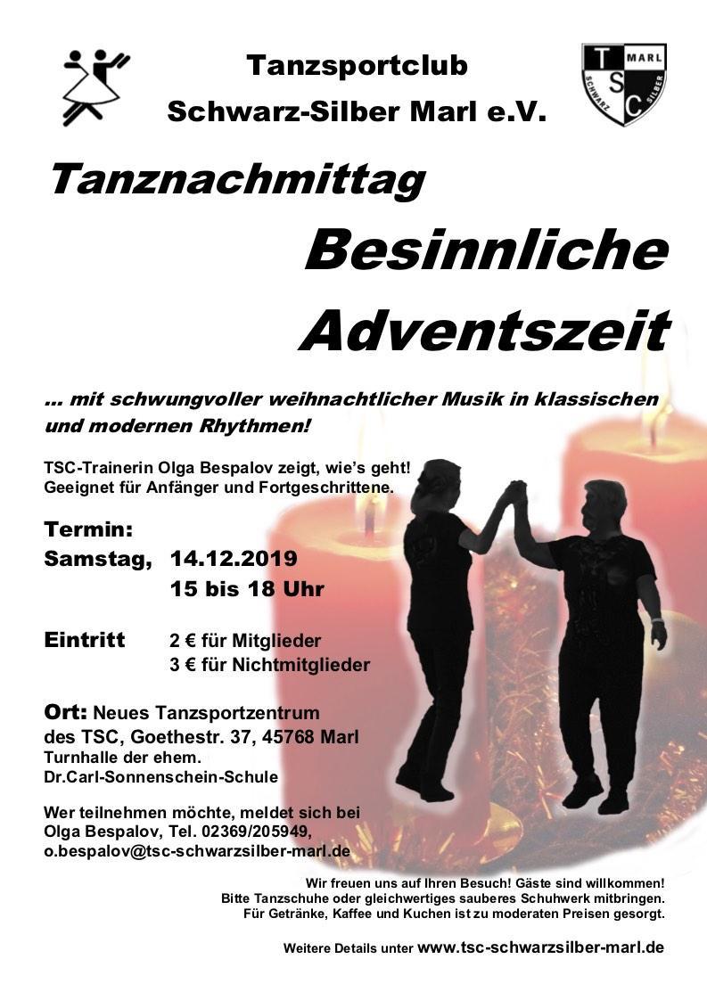 14.12.2019 - Tanznachmittag ... Besinnliche Weihnachtszeit
