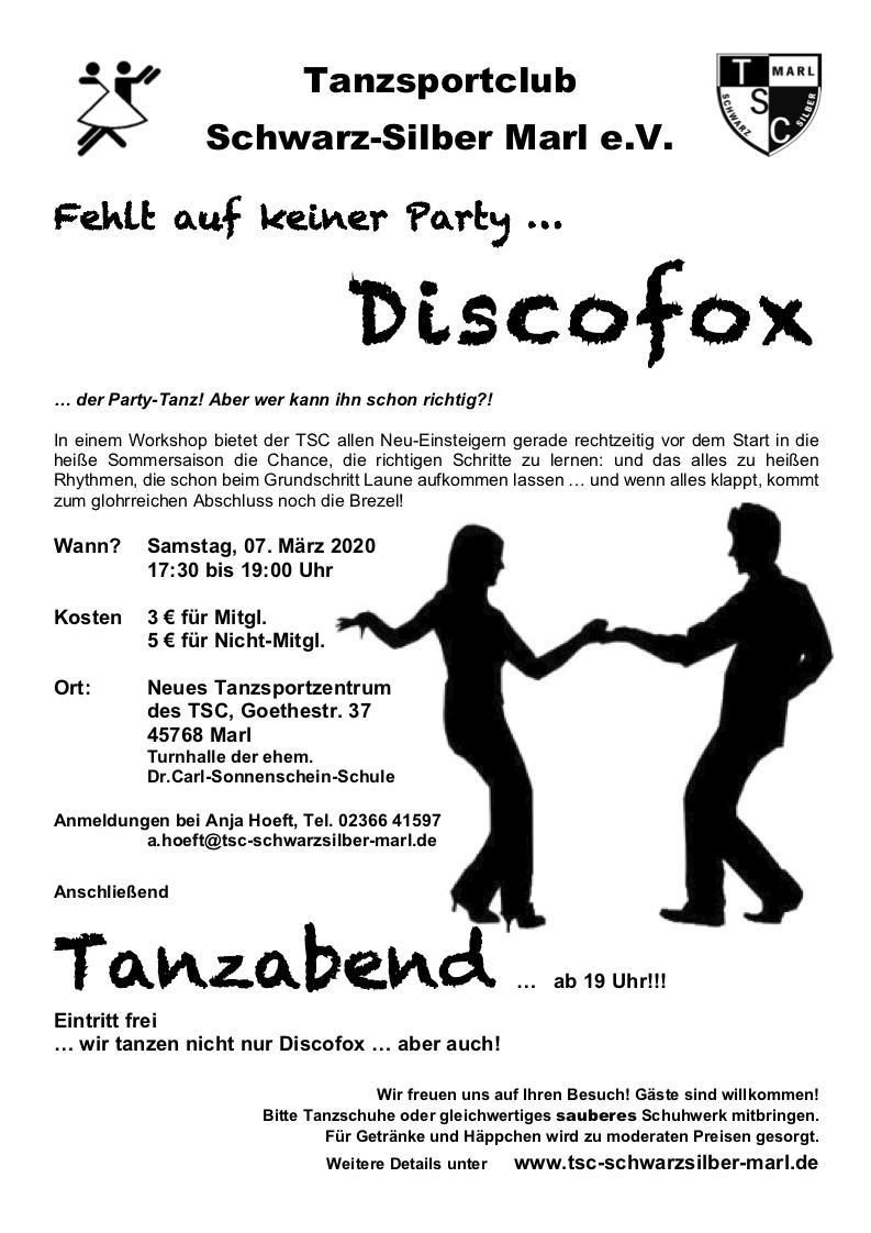 07.03.2020 - Workshop Discofox für Anfänger/-innen
