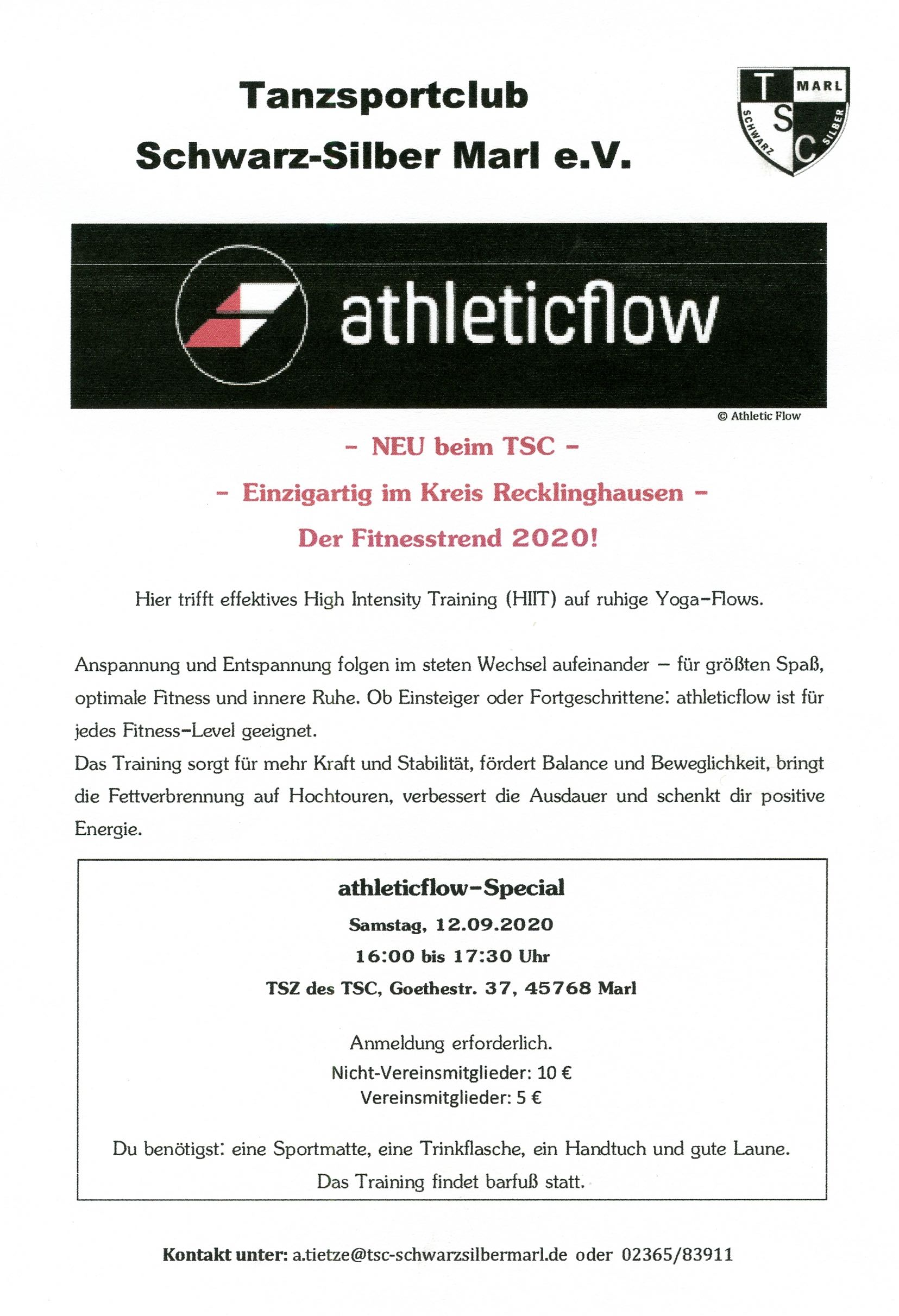 12.09.2020 - Workshop athleticflow™