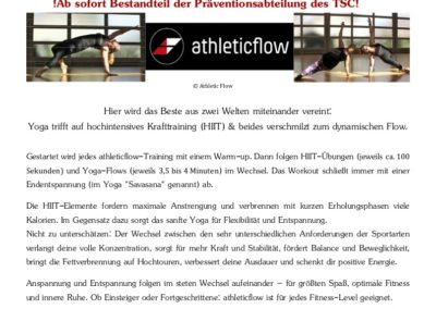 26.10.2020 - Start unserer neuen Gruppe Athleticflow™