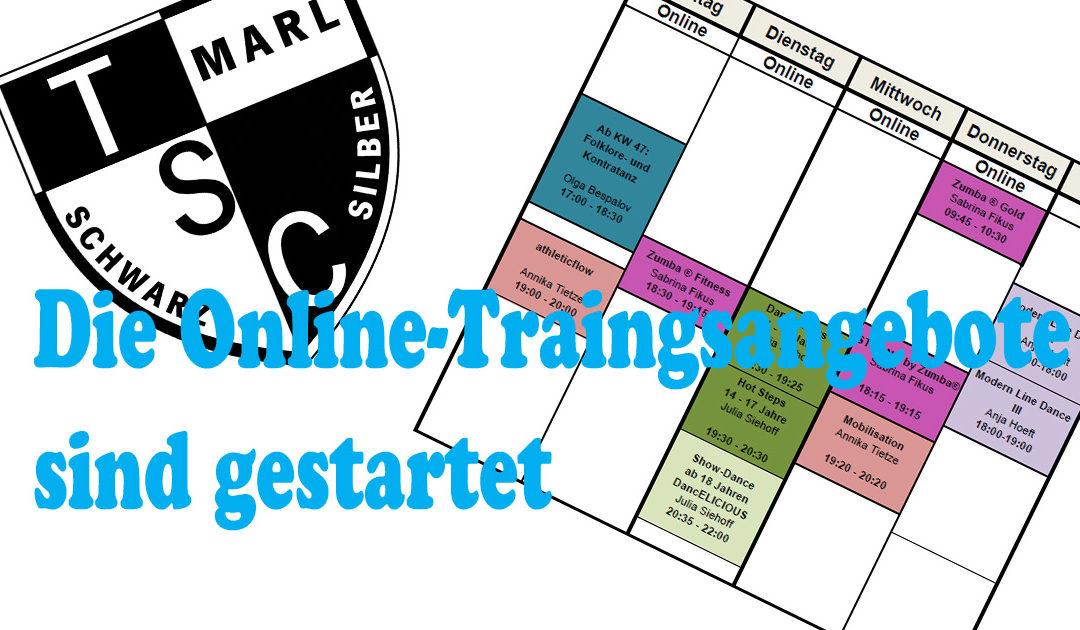 Online-Trainings gestartet !