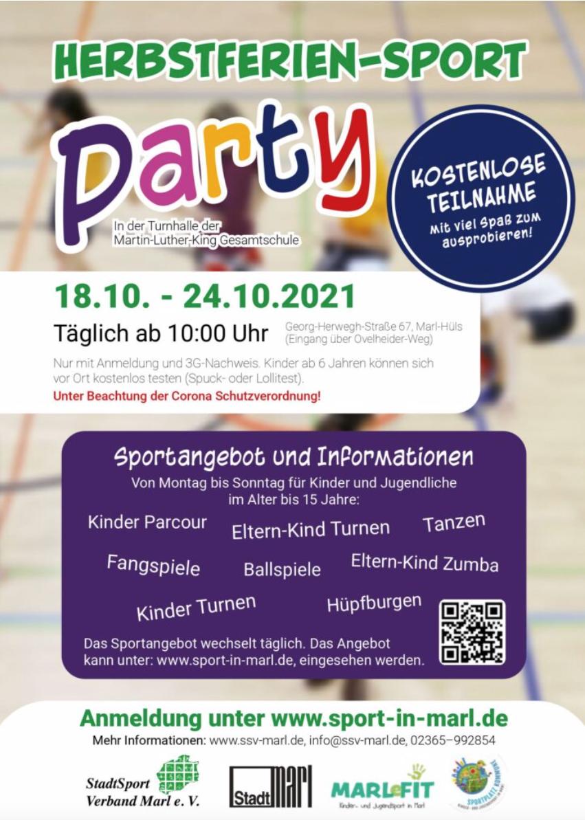 Herbstferien-Sport-Party ** TSC dabei